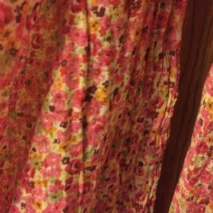 Pink small flowered scarf